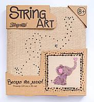 Набор для творчества Стринг-арт Слоник 952901 1 Вересня, фото 1