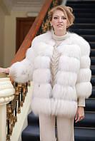 Шуба полушубок жилет из белой полярной лисы, рукава съемные