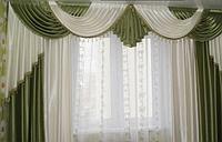 Набор ламбрекен+шторы