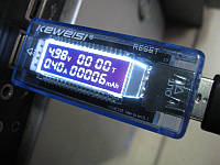USB Тестер напряжения, тока и мощности Keweisi KWS-V20 3в1