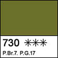 Краска акварельная Кювета земля зеленая, 2.5мл. ЗХК 351155 Невская палитра