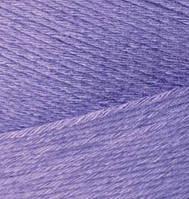 Турецкая  пряжа для  вязания Alize BAMBOO FINE (Бамбук файн) летняя пряжа бамбук -  65 фиолет