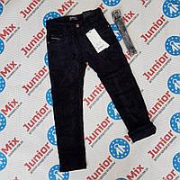 Підліткові вильветовые штани на флісі для хлопчиків синього і чорного кольору оптом SEAGULL, фото 1