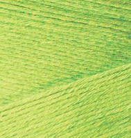 Турецкая  пряжа для  вязания Alize BAMBOO FINE (Бамбук файн) летняя пряжа бамбук -  612 салатовый