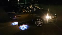 Подсветка дверей с логотипом авто Volkswagen VW Passat B5 B5.5 / Phaeton / Touareg