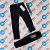 Теплые детские вильветовые брюки  на флисе  для мальчика синего и чёрного цвета оптом SEAGULL