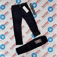 Теплые детские вильветовые брюки  на флисе  для мальчика синего и чёрного цвета оптом SEAGULL, фото 1
