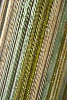 Трехцветные шторы нити (кисея) с люрексом