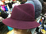 Шляпа  женская фетровая с полями , фото 3