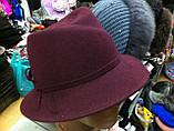 Шляпа  женская фетровая с полями , фото 2