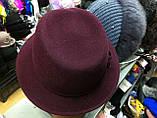 Шляпа  женская фетровая с полями , фото 4