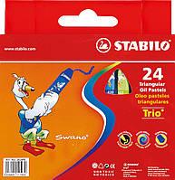 Пастель масляная 24 цветовSTABILO TRIO 400111