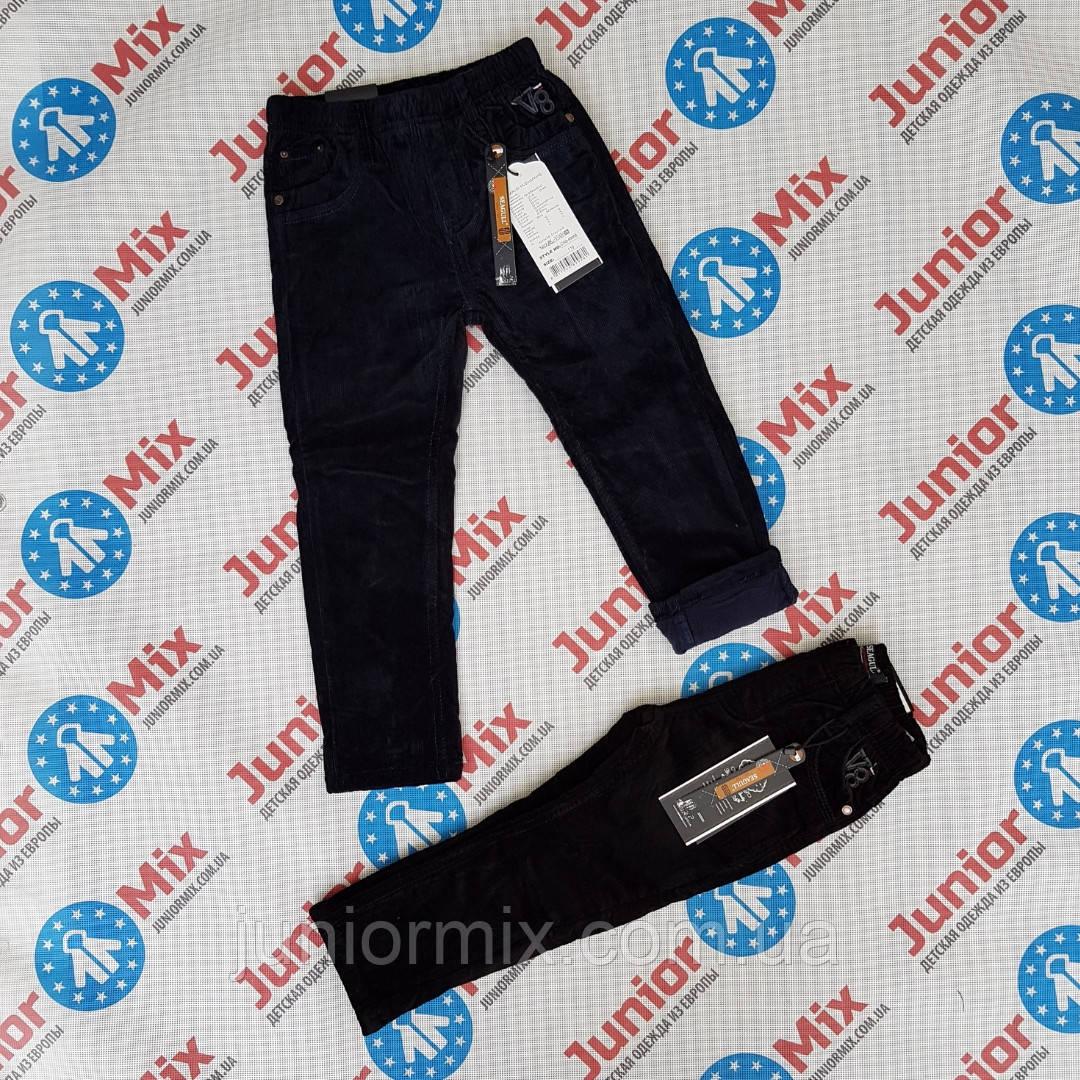 Детские тёплые вильветовые  брюки на флисе для мальчика синего и чёрного цвета оптом.SEAGULL