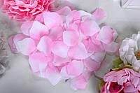 Лепестки роз искусственные Бело-розовые (150-170 шт/уп)