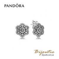 Серьги Pandora ЦВЕТОЧНЫЕ КРИСТАЛЛЫ #290732CZ серебро 925 цирконий Пандора оригинал