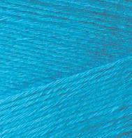 Турецкая  пряжа для  вязания Alize BAMBOO FINE (Бамбук файн) летняя пряжа бамбук - 484 бирюза