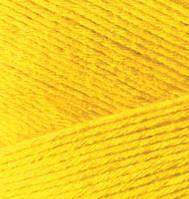 Турецкая  пряжа для  вязания Alize BAMBOO FINE (Бамбук файн) летняя пряжа бамбук - 216 желтый