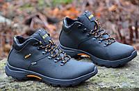 Ботинки мужские зимние кожаные Ecco черные (код 147), фото 1