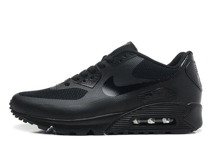 d6b30b20 Кроссовки женские Nike Air Max 90 Hyperfuse Black черные (Реплика) - Krosi  G в