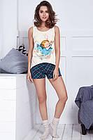 комплект женский майка+шорты  6213-6G  Anabel Arto
