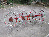 Грабли - ворошилки (солнышко)  навесные 4-х колесные (AGROMARKA DELUXE, толщина спицы 5мм, оцинкованные)