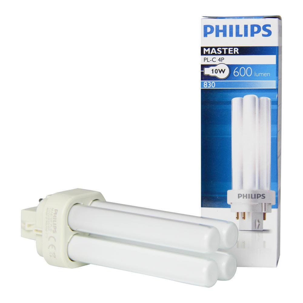 PHILIPS MASTER PL-C 10W/830/4P Лампа G24q-1