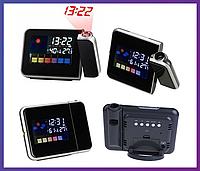 Часы метеостанция с проектором времени Color Screen Calendar 8190, фото 1