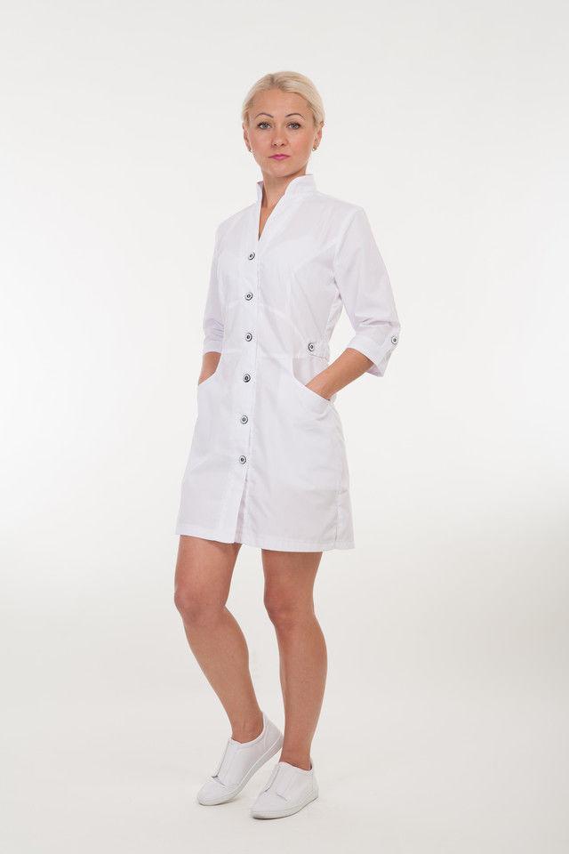 Медичний халат на гудзиках розмір: 40-60