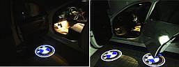 Подсветка дверей с логотипом авто BMW (БМВ). LED подсветка в двери