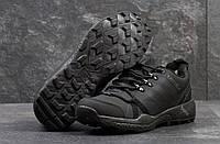 Мужские кроссовки Adidas Terrex. Нубук. Чёрные