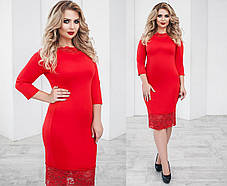 Т2061 Платье с кружевом (48-54), фото 2