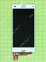 Дисплей Sony Xperia Z3 Compact D5803 с сенсором Оригинал Б/У Белый