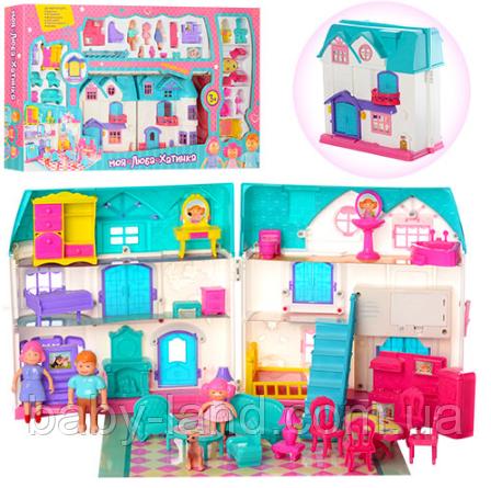 Кукольный домик детский с звуковыми и световыми эффектами 1205