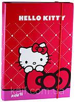 Папка картонная для тетрадей на резинке В5 KITE 2013 Hello Kitty 210