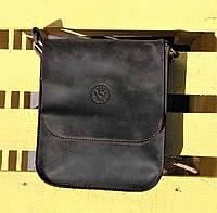 Кожаная мужская сумка VS214 Crazy horse brown 22х25х6 см