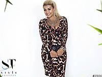 Стильное вечернее платье в леопардовый принт