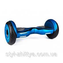 """Електро-скейборд 10"""" гіроборд, Powermat + сумка синій"""