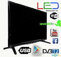 "Телевизор LED backlight tv L 56"" Smart TV WiFi, T2, USB/SD, HDMI, VGA, Android"