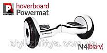"""Електро-скейборд 10"""" гіроборд, Powermat + сумка білий"""