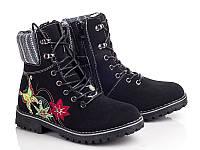 Зимние ботинки на девочек оптом. E3082-1 (8пар, 32-37)