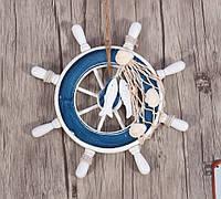 Штурвал-руль корабля декоративный