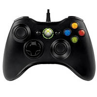 Проводной геймпад Microsoft Xbox 360 Controller Original for Windows PC. Джойстик Xbox 360 Black + Чехол Black