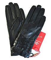 Женские кожаные перчатки (лайка) на шерсти