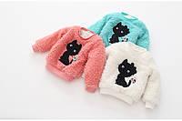 Теплый  свитер для девочки  CATS