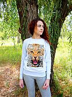Женский свитшот с леопардом