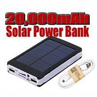 Внешний аккумулятор Power Bank Solar 20000 mAh