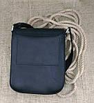 Кожаная мужская сумка VS214 Crazy horse blak 20х23х5.5  см, фото 7