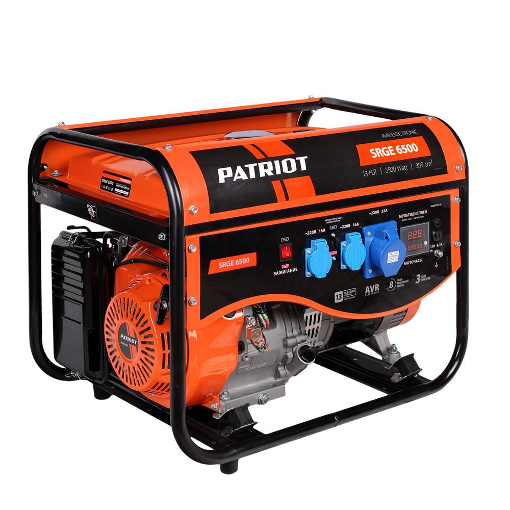 Генератор бензиновый Patriot SRGE 6500