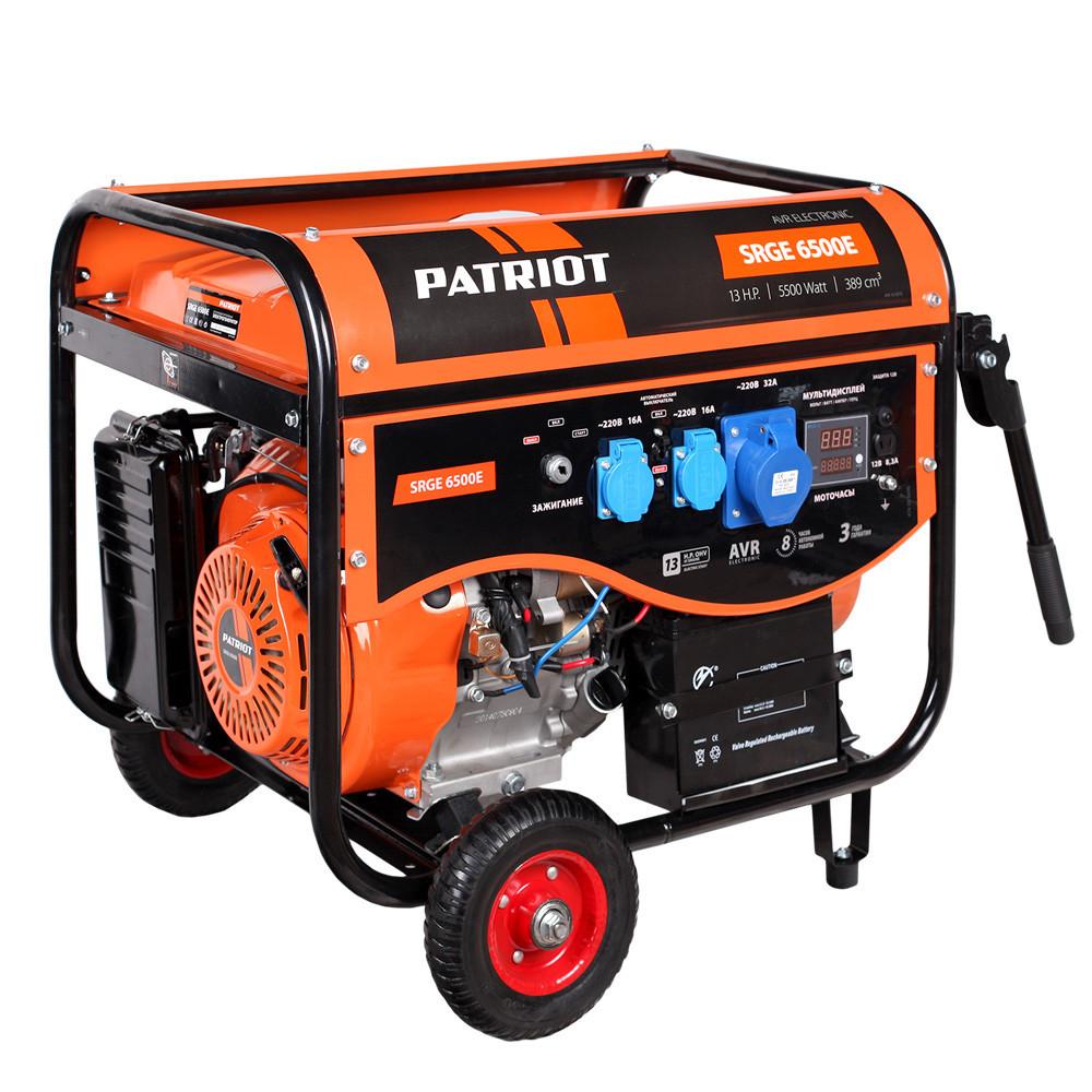 Генератор бензиновый Patriot SRGE 6500E