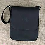 Кожаная мужская сумка VS214 Crazy horse blak 20х23х5.5  см, фото 8